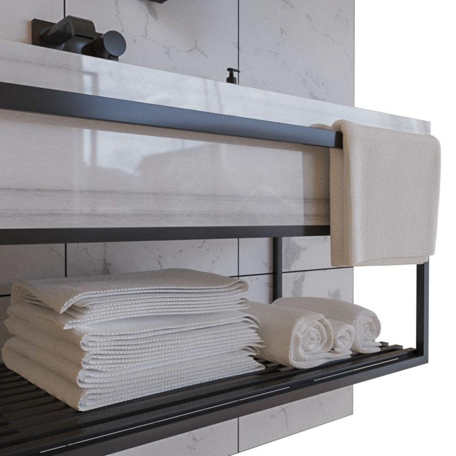 현대적인 욕실 세트 royalty-free 3d model - Preview no. 4