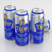 Beer Can Tiger Lager 500ml 2013 3d model