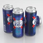 Beer Can Kronenbourg 1664 500 ml 2013 3d model