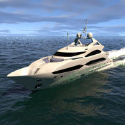 Sunseeker Yacht 40m Dynamic Simulation PhoenixFD 3d model