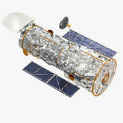 Hubble rymdteleskop NASA 3d model