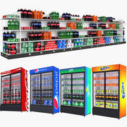 Boissons et réfrigérateur de boissons 3d model