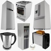Coleção de equipamentos de cozinha 3d model