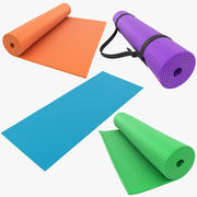 Yoga Mat Collection 3d model