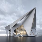 villa conceptual modelo 3d