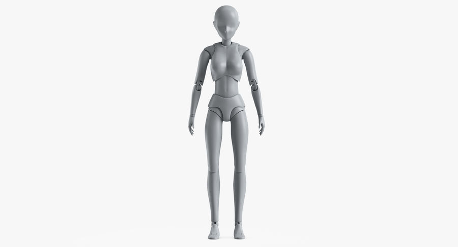 Manichino Donna royalty-free 3d model - Preview no. 2