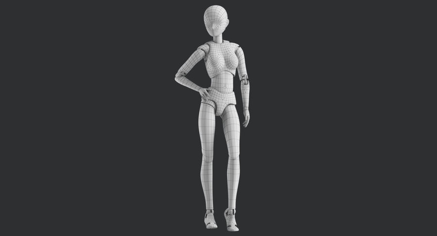 Manichino Donna royalty-free 3d model - Preview no. 29