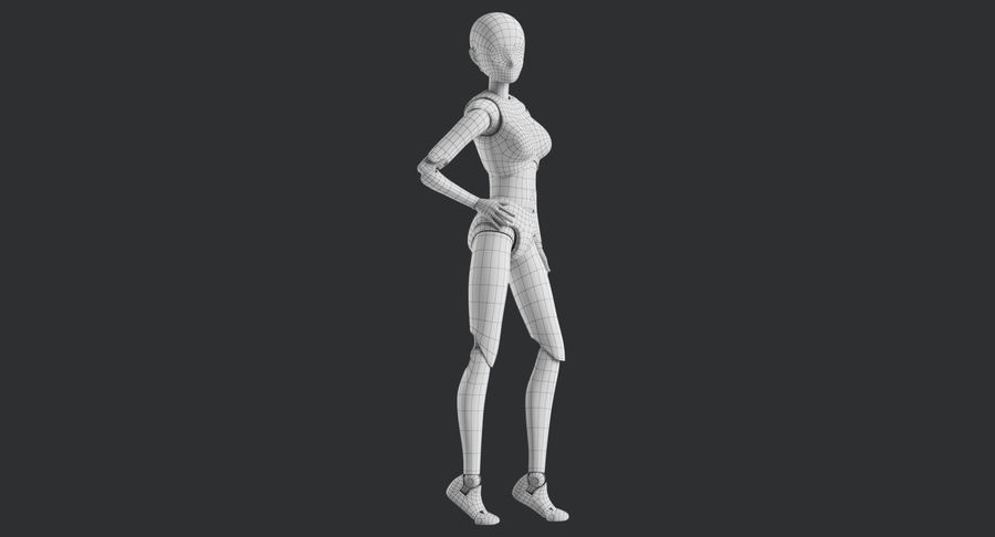 Manichino Donna royalty-free 3d model - Preview no. 33