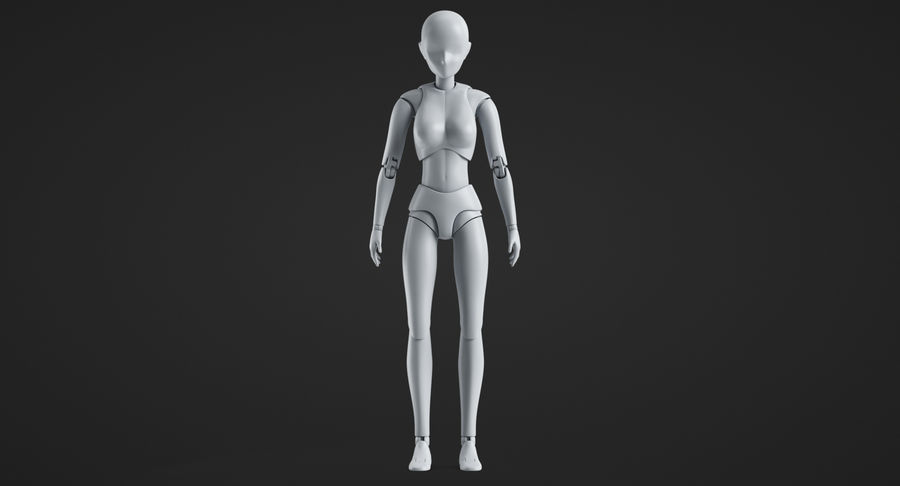 Manichino Donna royalty-free 3d model - Preview no. 3