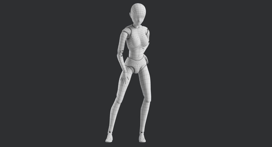 Manichino Donna royalty-free 3d model - Preview no. 32