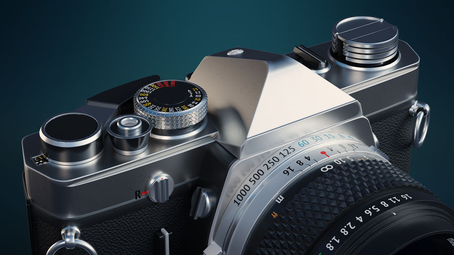 Film camera royalty-free 3d model - Preview no. 3