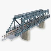 Modular Railway Bridge 10 3d model