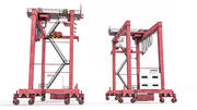 RTG Rubber-Tyred Gantry Crane 3d model