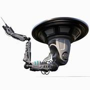 Braço robótico animado equipado Industrial 3d model