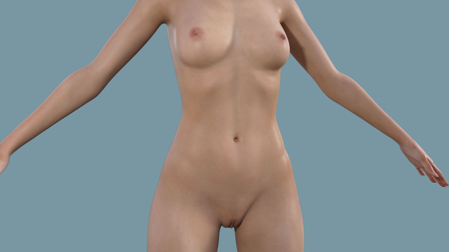 Realistic Female Character Rigged 11 royalty-free 3d model - Preview no. 1