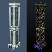 Hotel geograficamente dia e noite 3d model