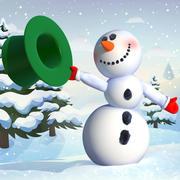 漫画雪だるまマヤのリグ 3d model