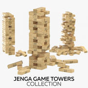 积木游戏塔收藏 3d model