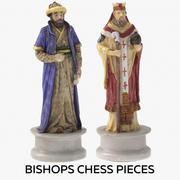 Piskoposlar Satranç Taşları 3d model
