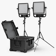 LitePanels Astra 6X 1x1 LED Duo Traveller Kit 3d model