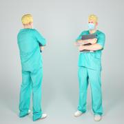 Médecin chirurgien de sexe masculin avec un dossier 41 3d model