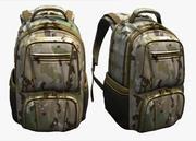 バックパックキャンプフィクションバッグ手荷物 3d model