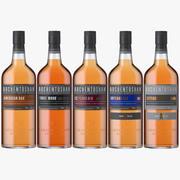 Auchentoshan Whisky-flessencollectie 3d model