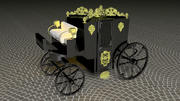 Horse Carriage of Count Dracula 3d model