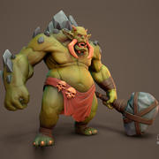 Troll Hunter Anim Rig 3d model