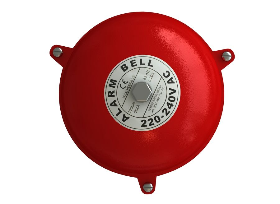 BRAND ALARM BELL BUZZER royalty-free 3d model - Preview no. 3