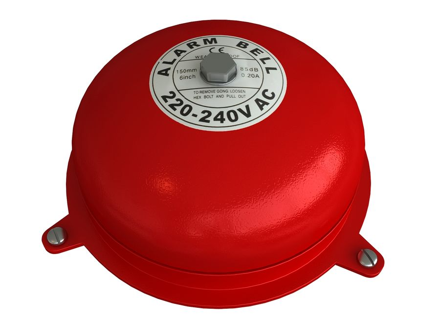 BRAND ALARM BELL BUZZER royalty-free 3d model - Preview no. 1