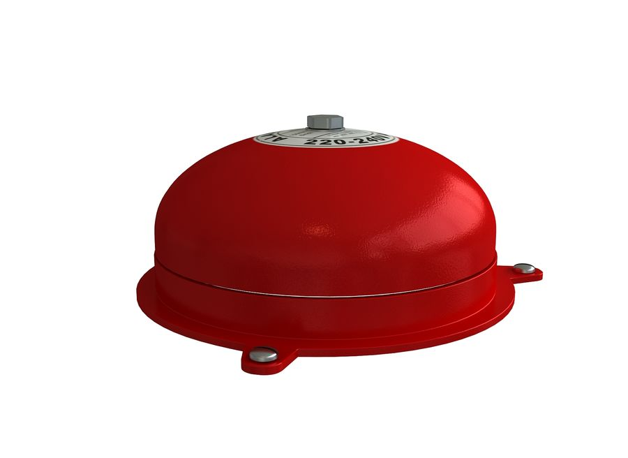 BRAND ALARM BELL BUZZER royalty-free 3d model - Preview no. 4