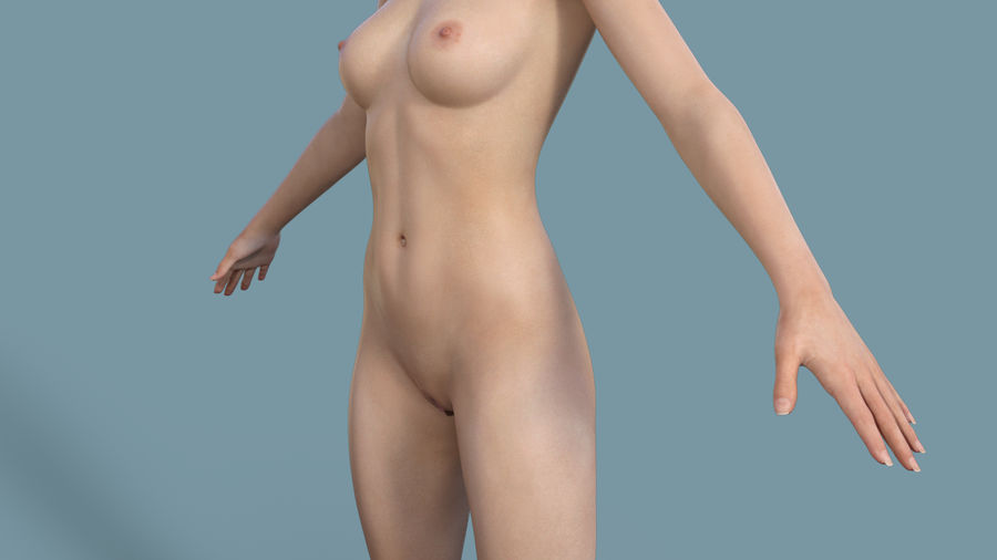 Realistic Female Character 3 royalty-free 3d model - Preview no. 10