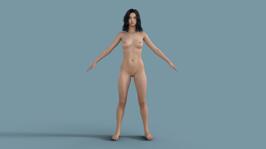 Realistic Female Character 3 royalty-free 3d model - Preview no. 3