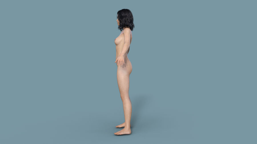Realistic Female Character 3 royalty-free 3d model - Preview no. 5