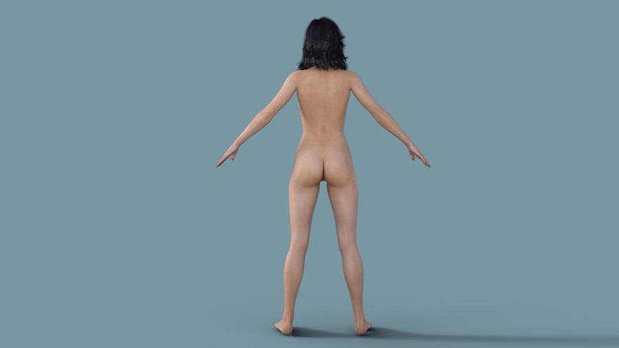 Realistic Female Character 3 royalty-free 3d model - Preview no. 4