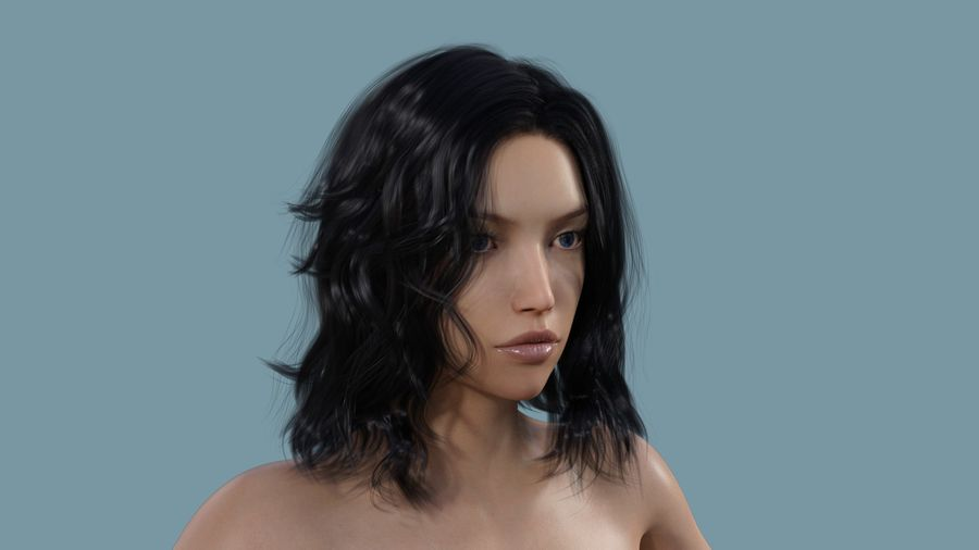 Realistic Female Character 3 royalty-free 3d model - Preview no. 1
