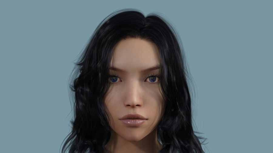 Realistic Female Character 3 royalty-free 3d model - Preview no. 6