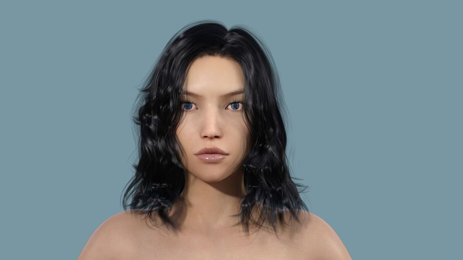 Realistic Female Character 3 royalty-free 3d model - Preview no. 2