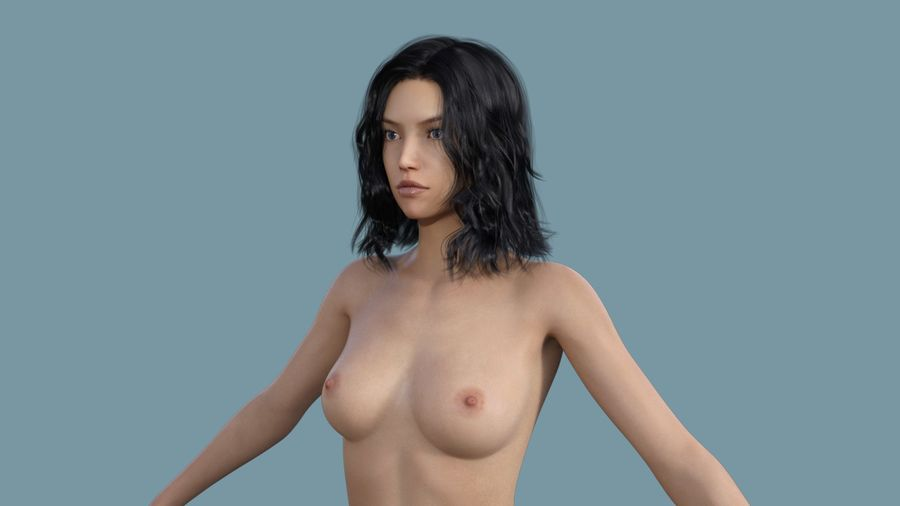 Realistic Female Character 3 royalty-free 3d model - Preview no. 8