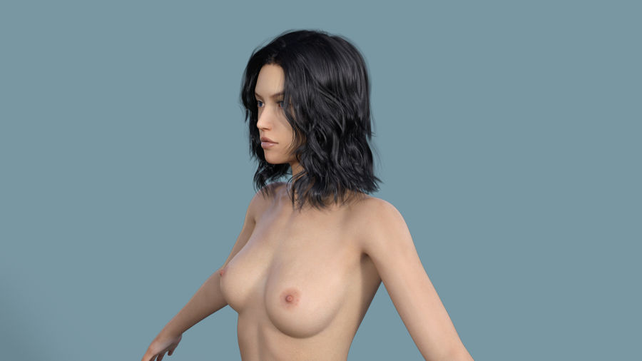 Realistic Female Character 3 royalty-free 3d model - Preview no. 11