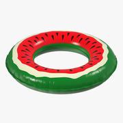 Opblaasbare zwembadring watermeloen 3d model