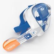 Deitado Tribord Subea Easybreath máscara facial de snorkel 3d model