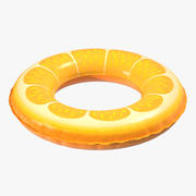 Orange Swimmingpool-Hin- und Herbewegungsring 3d model