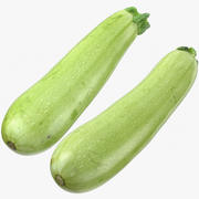 Zucchini Cousa Squash Collection 03 3d model