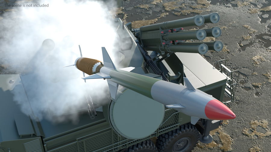 Surface to Air Missile Generic royalty-free 3d model - Preview no. 5