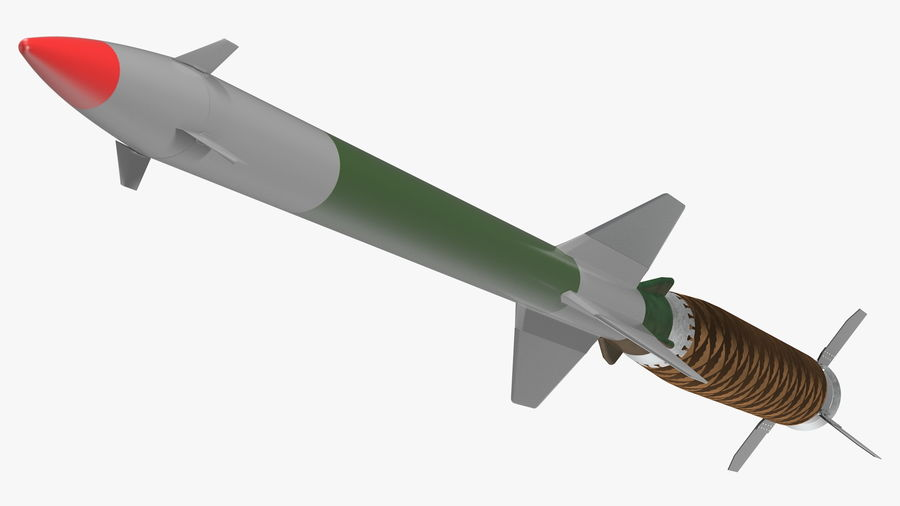 Surface to Air Missile Generic royalty-free 3d model - Preview no. 7