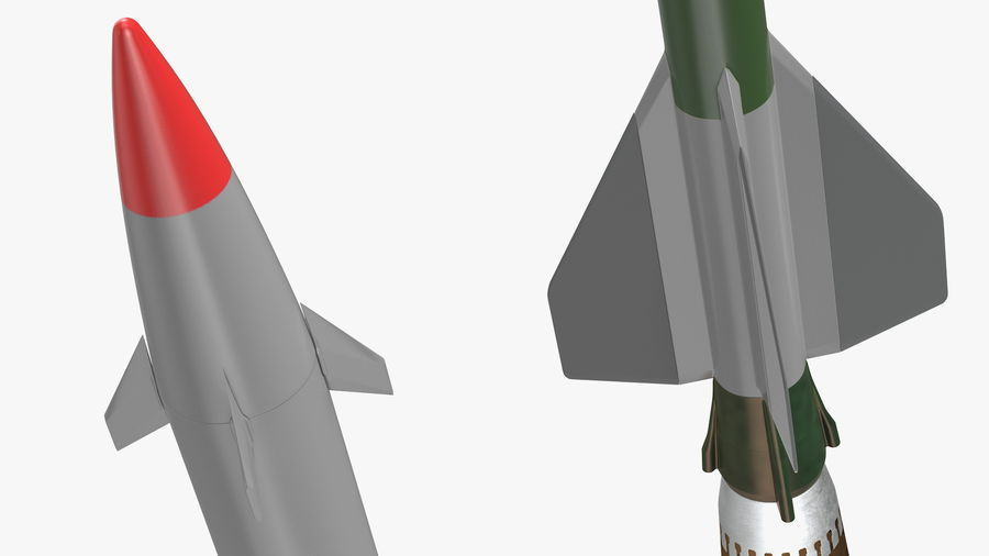 Surface to Air Missile Generic royalty-free 3d model - Preview no. 8