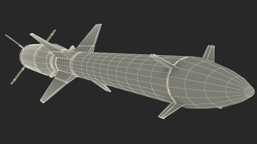 Surface to Air Missile Generic royalty-free 3d model - Preview no. 21
