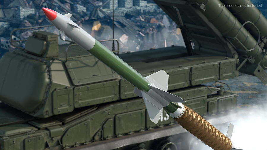Surface to Air Missile Generic royalty-free 3d model - Preview no. 4